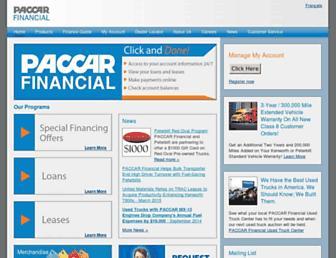 paccarfinancial.com screenshot
