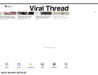 Screenshot for viralthread.com