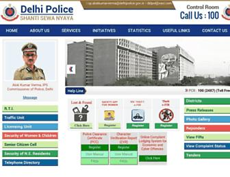Thumbshot of Delhipolice.nic.in