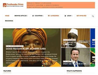 Main page screenshot of pambazuka.org