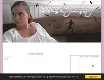 Main page screenshot of alinafagerhaug.blogg.no