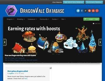dragonvaledb.com screenshot