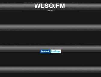 Main page screenshot of wlso.fm