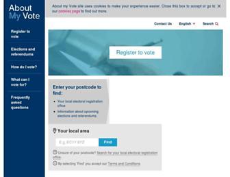 Thumbshot of Aboutmyvote.co.uk