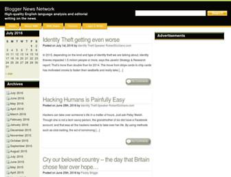 Main page screenshot of bloggernews.net