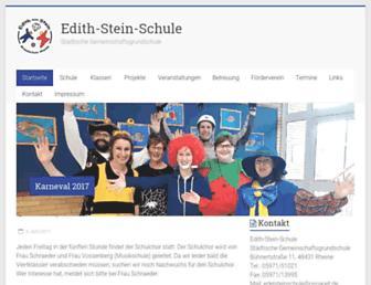 Main page screenshot of edelsteinschule.de