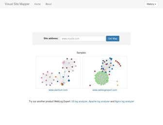 visualsitemapper.com screenshot