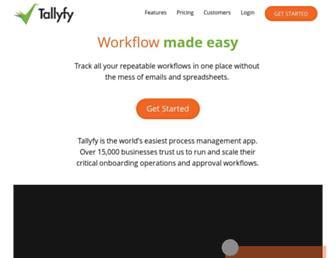 tallyfy.com screenshot