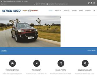 actionautozambia.com screenshot