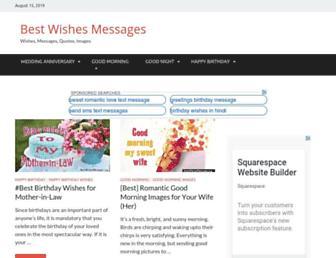 bestwishesmessages.org screenshot
