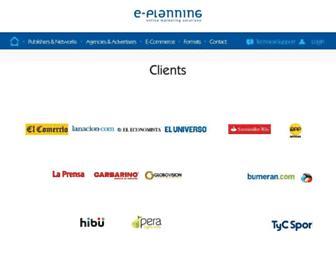 Main page screenshot of e-planning.net