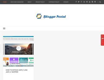 bloggerpooint.blogspot.com screenshot