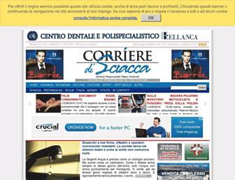 corrieredisciacca.it screenshot