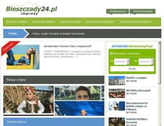 imprezy.bieszczady24.pl screenshot