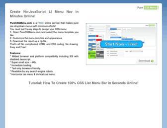 cssmenugenerator.com screenshot