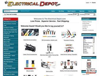 theelectricaldepot.com screenshot