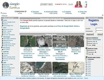 Main page screenshot of google-earth.es