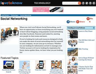 socialnetworking.lovetoknow.com screenshot