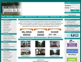 Main page screenshot of mijnhuisverkopen.nl