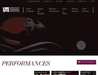 knoxvillesymphony.com screenshot