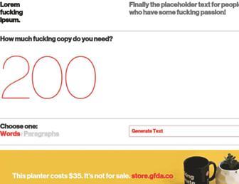 Thumbshot of Loremfuckingipsum.com