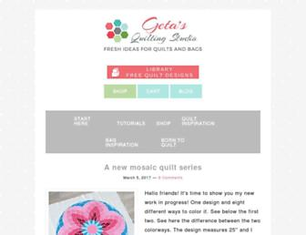 getasquiltingstudio.com screenshot