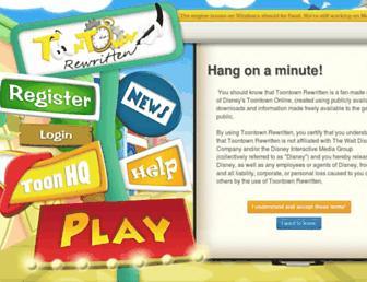toontownrewritten.com screenshot