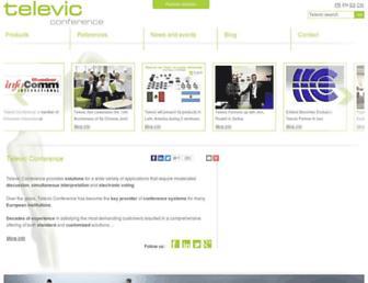 televic-conference.com screenshot