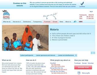againstmalaria.com screenshot