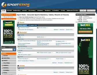 sportstats.com screenshot