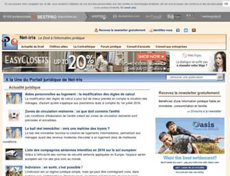 Main page screenshot of net-iris.fr
