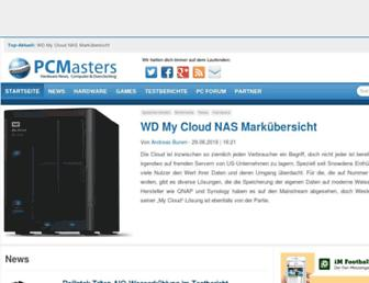Main page screenshot of pcmasters.de