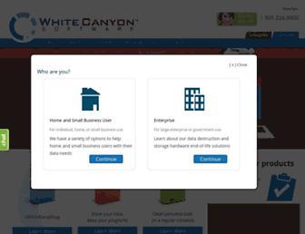 whitecanyon.com screenshot