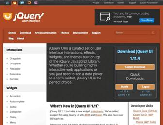jqueryui.com screenshot