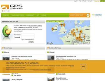 Main page screenshot of gps-tour.info