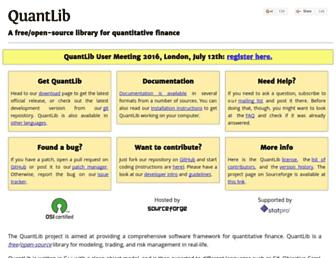 quantlib.org screenshot