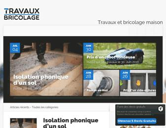 travauxbricolage.fr screenshot