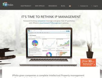 ipfolio.com screenshot
