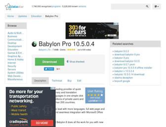 babylon-pro.updatestar.com screenshot
