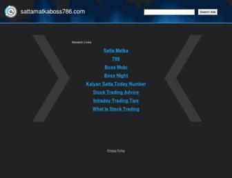 sattamatkaboss786.com screenshot