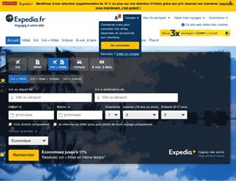 expedia.fr screenshot