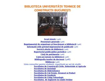 biblioteca.utcb.ro screenshot