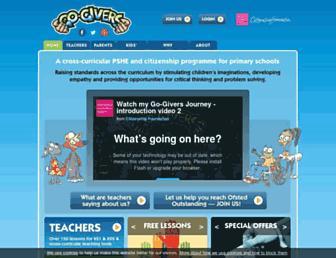 Main page screenshot of gogivers.org