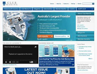 clubmarine.com.au screenshot