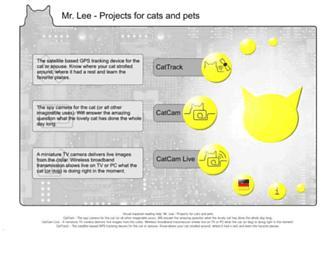Main page screenshot of mr-lee-catcam.de
