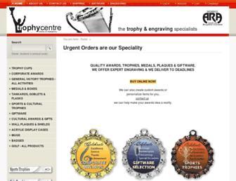 Main page screenshot of trophycentre.co.nz
