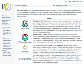 wikitech.wikimedia.org screenshot