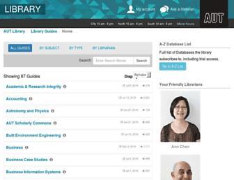 aut.ac.nz.libguides.com screenshot