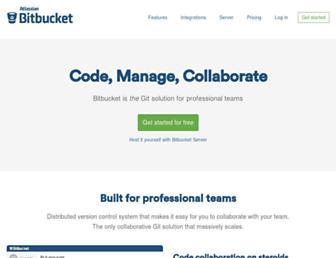 Main page screenshot of bitbucket.org