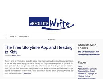 Thumbshot of Absolutewrite.com